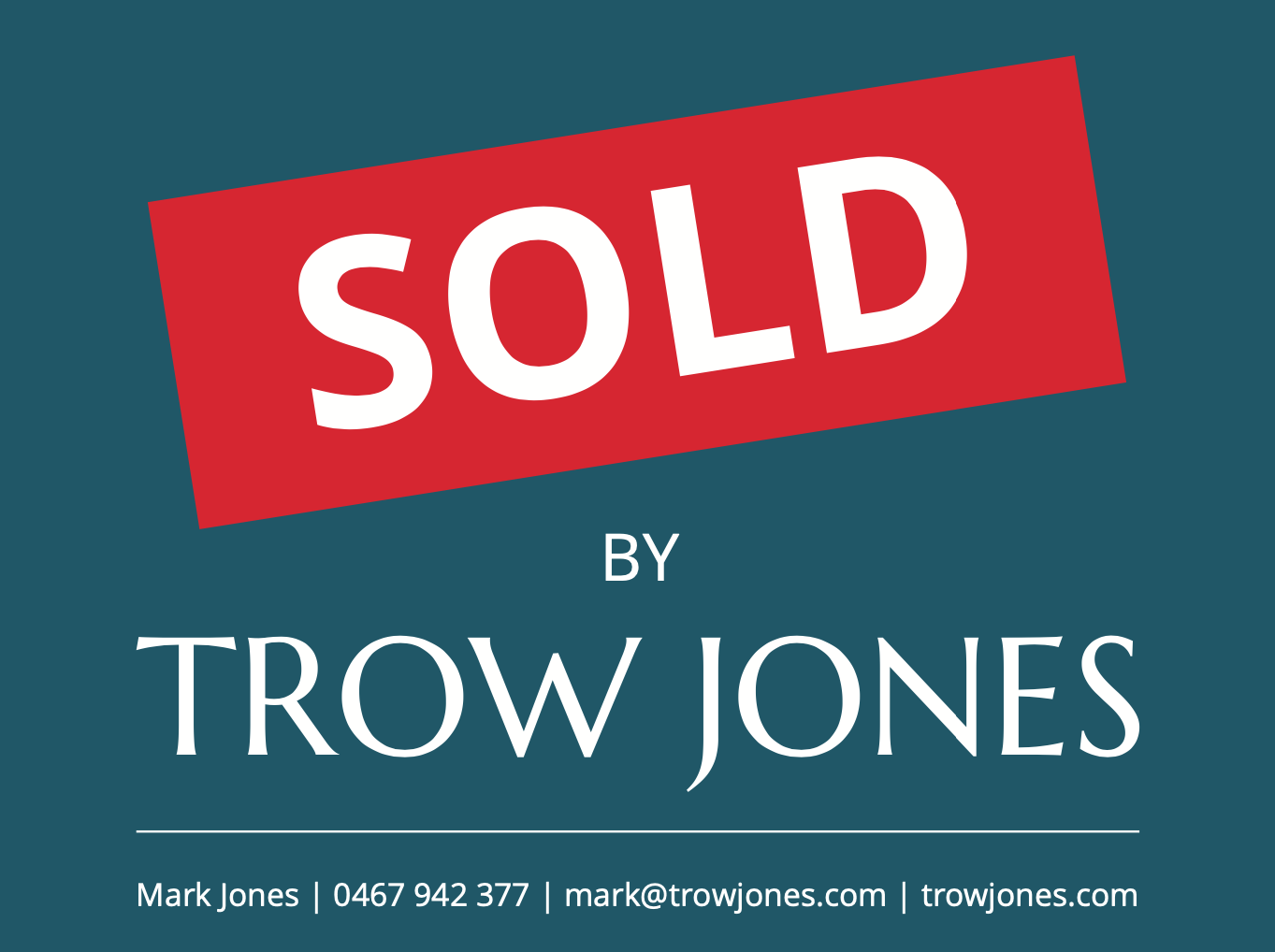 Another Successful 'Off-Market' Sale by Trow Jones